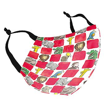 Curious George Animal Squares Adult Reusable Fabric Face Mask
