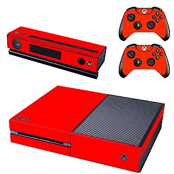 REYTID Console Skin / Sticker + 2 x Controller Decals & Kinect Wrap Compatible with Microsoft Xbox One - Full Set - Red