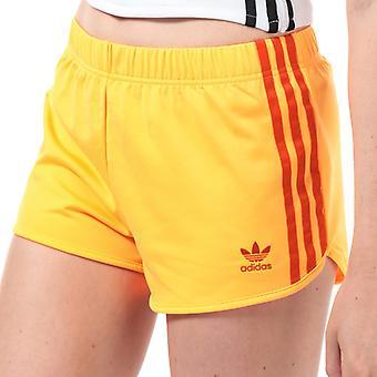 Women's adidas Originals 3-Stripes Shorts in Orange