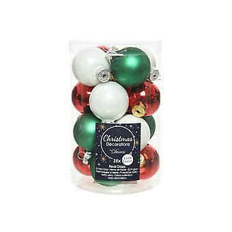 16 3,5 cm kerstmix glas kerstboom kerstballen decoraties