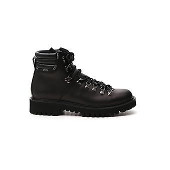 Valentino Garavani Uy2s0d70akj0no Men's Black Leather Enkellaarsjes