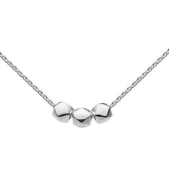 Dew Sterling Silver Triple Faceted Ball 18 Necklace 9822HP022