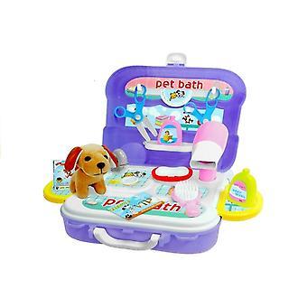 Speelgoed honden schoonheidssalon - 20-delig met koffer