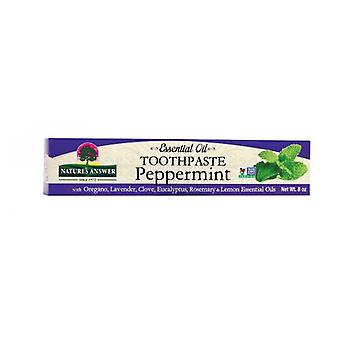 Nature's Answer Essential Oil Toothpaste, Peppermint 8 Oz