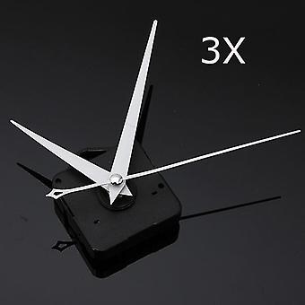 3Stücke DIY weiße Dreieck Hände Quarz schwarz Wand uhr Uhr Uhr Uhr Mechanismus