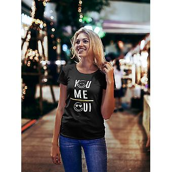 SmileyWorld You And Me Oui Romantic Graphic Women's T-shirt