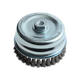 Lessmann Knot Cup Brush 125mm M14 x 0.50 Steel Wire* LES487217