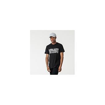 New Era Nfl Las Vegas Raiders Stacked Wordmark Black T-shirt