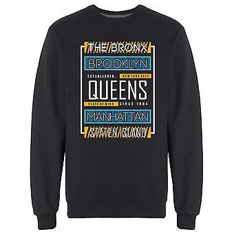 Staten Island Typography Graphic Sweatshirt Men's -Image by Shutterstock