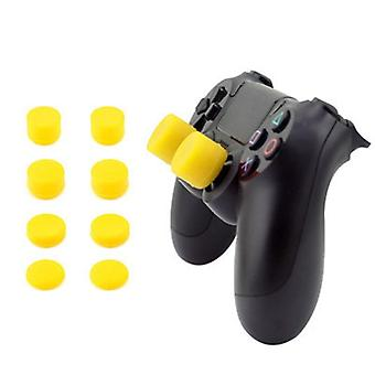 8pcs Silicone Analog Thumb Stick Joystick Grips For Playstation -replacement