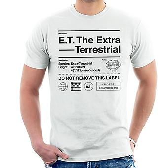 E.T. The Extra Terrestrial Specification Profile Men's T-Shirt