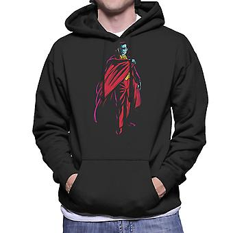 Dracula Cape Pose Dark Blood Illustration Men's Hooded Sweatshirt