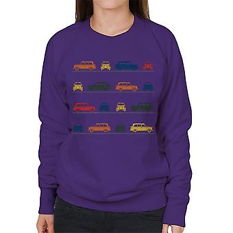 London Taxi Company TX4 Angled Colourful Montage Women's Sweatshirt