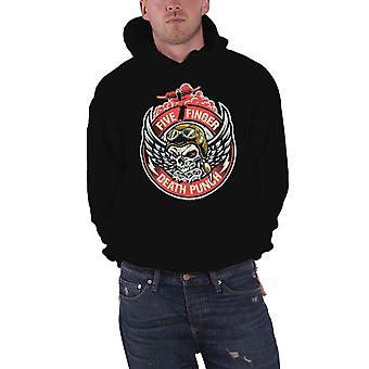 Five Finger Death Punch Hoodie Bomber Patch Logo Official Mens Black Pullover