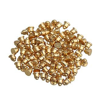 100pcs 2x2mm Gold Plated Copper Pogo Pins Probe Spring Loaded Waterproof