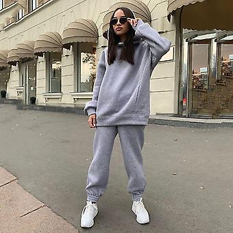 Autumn Hooded Sweatshirt Tracksuit Set