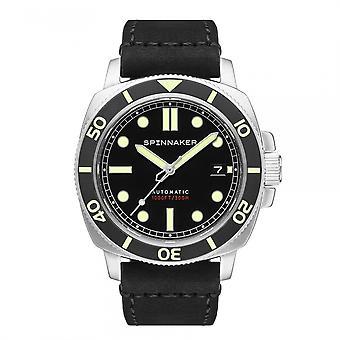 Montre-bracelet noire Spinnaker SP-5088-01 Gent's Hull Diver Tuxedo
