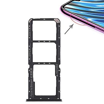 2 x SIM Card Tray + Micro SD Card Tray for OPPO A7x(Black)