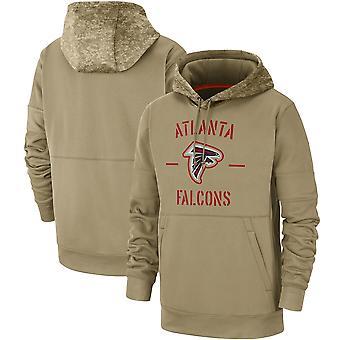 Men's Atlanta Falcons Slant Strike Tri-Blend Raglan Pullover Hoodie Top WYG063