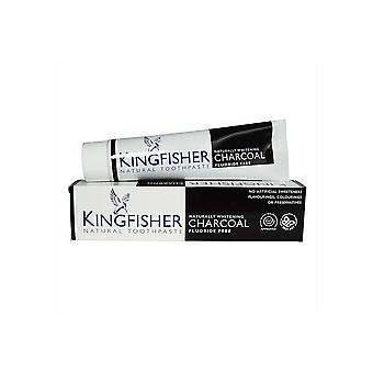 Kingfisher Toothpaste Naturally Whitening Charcoal  100ml x12