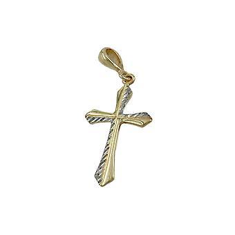 Wisiorek Cross Rhodium platerowane 9k Złoto