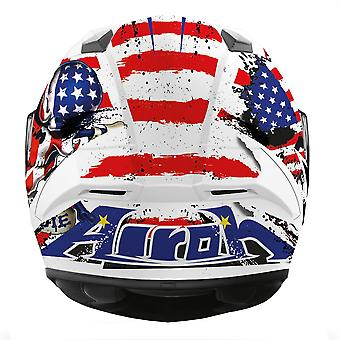 Airoh Valor Full Face Helm Uncle Sam Matt blau weiß rot ACU Gold genehmigt