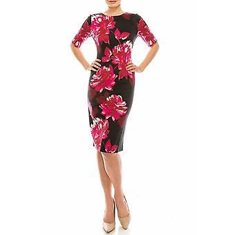שמלת נדן פרחונית מודפסת
