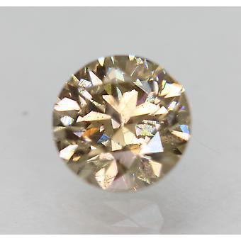 Cert 0.90 قيراط Int Brown VS2 Round Brilliant المحسن الماس الطبيعي 5.99m 3VG