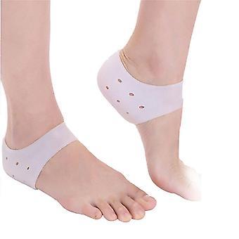 1pair New Silicone Moisturizing Gel Heel Socks Cracked Foot Skin Care