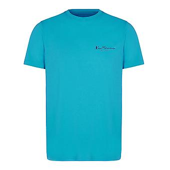 Ben Sherman Mens T-Shirt Short Sleeve Top Casual Tee Aqua 0059994 Aqua DD15