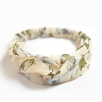 Hairband with beautiful floral pattern elastic silk in 3 models
