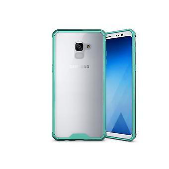 Samsung Galaxy A8 Plus (2018) Stoßfeste TPU Fall Abdeckung - grün
