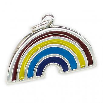Regenbogen Sterling Silber Charm Anhänger .925 X 1 Regenbogen Schmuck --sfp - 8658