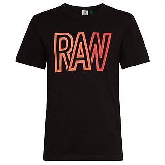 G-Star Raw Logo T-Shirt Black D19216 336