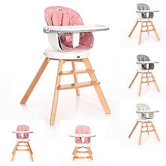Lorelli Chaise haute Napoli 3 dans 1 chaise pour enfants, siège 360° pivotant, hauteur réglable