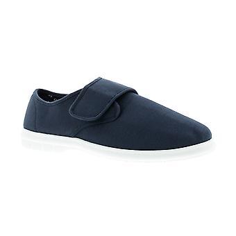Dr Keller ernie Mens Canvas Shoe navy UK Size