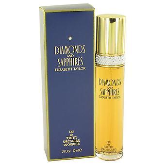 Diamanten & Saphires Eau De Toilette Spray door Elizabeth Taylor 1.7 oz Eau De Toilette Spray