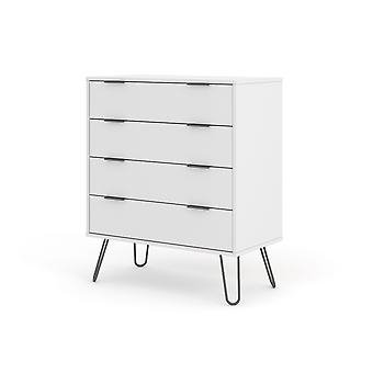 Augustine White 4 Drawer Chest Of Drawers