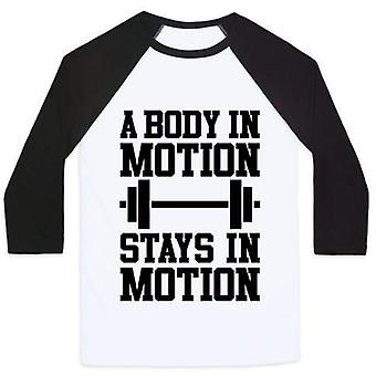 A body in motion unisex classic baseball tee