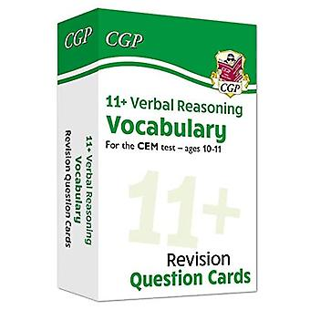 New 11+ CEM Revision Question Cards: Verbal Reasoning Vocabulary - Ages� 10-11