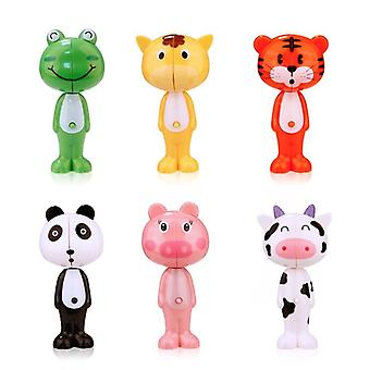 Baby Silicone Animal Telescopic Soft Bristle Toothbrush  (a)