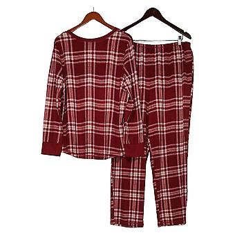 Carole Hochman Women's Silky Velour Fleece Pajama Set Red A368290