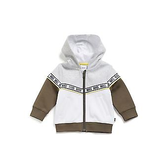 Hugo Boss Boys Hugo Boss Infant Boy's grau, weiß und Khaki Trainingsanzug mit Logo Taping
