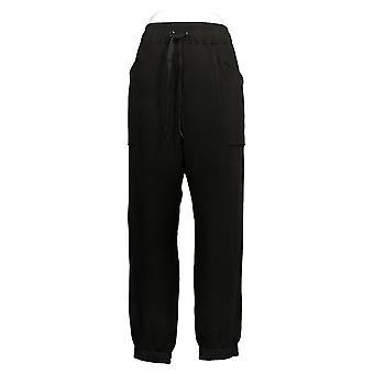 Cuddl Duds Dames's Comfortwear Regular Length Jogger Pants Zwart A381714