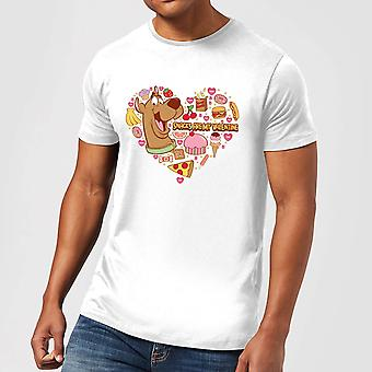 Scooby Doo Snacks Are My Valentine Men's Short Sleeve T-Shirt Tee Top - White