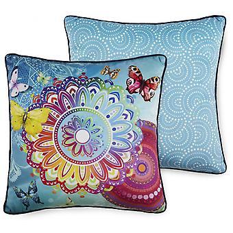 pillow sum 48 x 48 cm polyester light blue