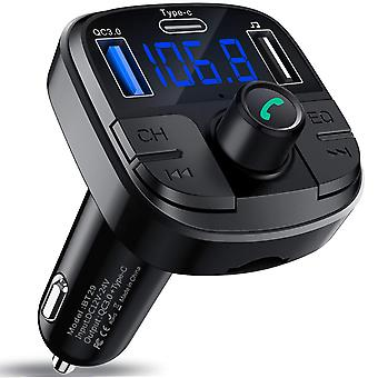 Qc3.0 Type-c Fast Charging Wireless Audio Transmitter Bluetooth 5.0