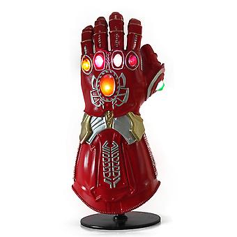 Avengers 4 Iron Man Cosplay Gloves Infinite Gloves Pvc Glowing Costume