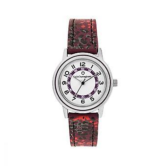 LuluCastagnette Girl Watch - white dial - black and purple bracelet