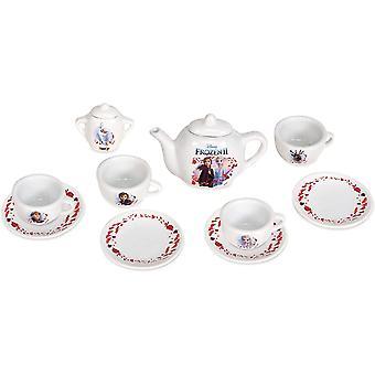 HanFei - Die Eisknigin 2 Porzellan-Service - 10-tlg Spielzeuggeschirr-Set mit Tasse, Teller,